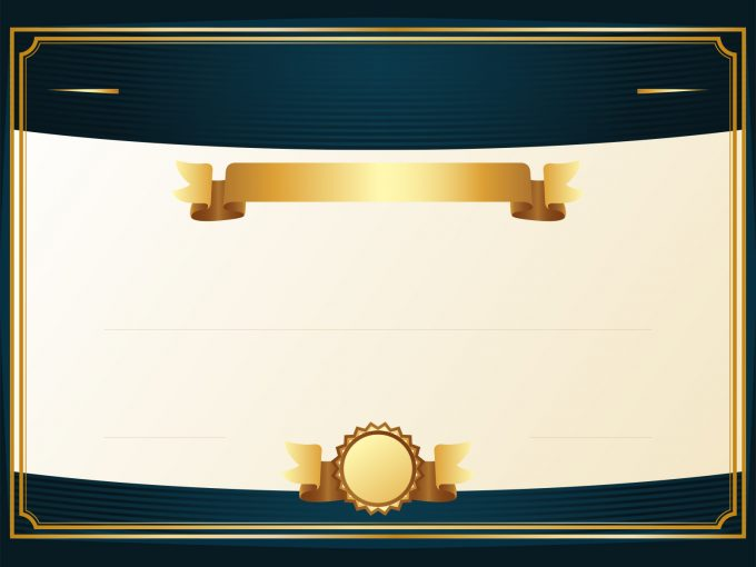 Golden Certificate PPT Backgrounds