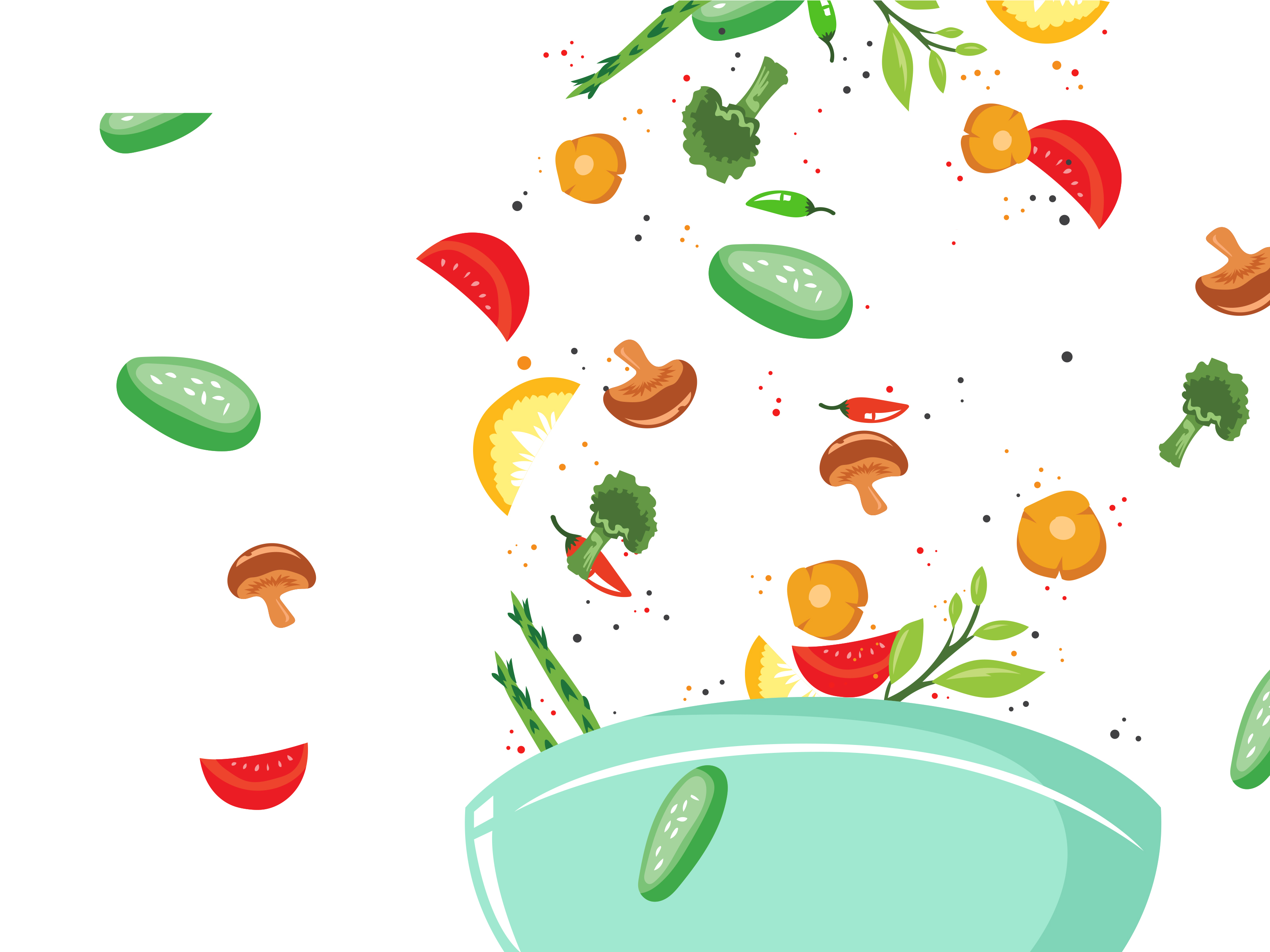 Healthy Food Vegetables Backgrounds Foods Drinks Green White