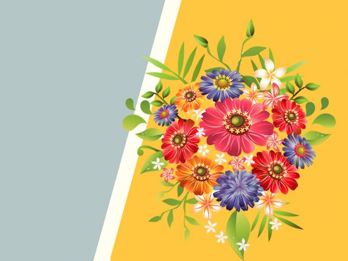 Bouquet Flowers PPT Backgrounds
