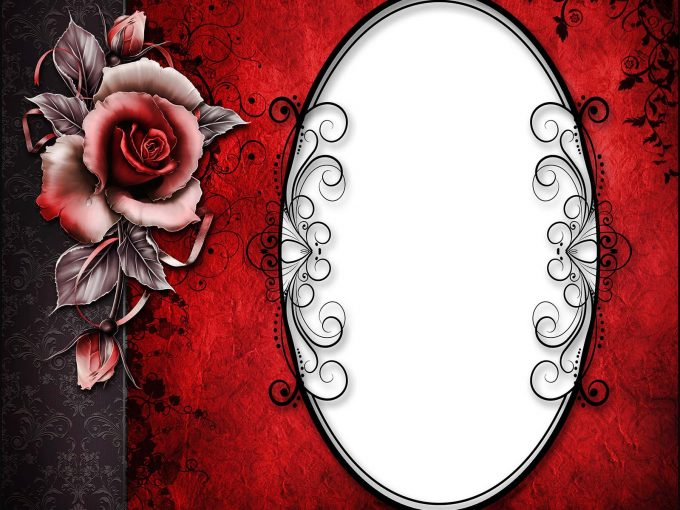 Rose frame PPT Backgrounds