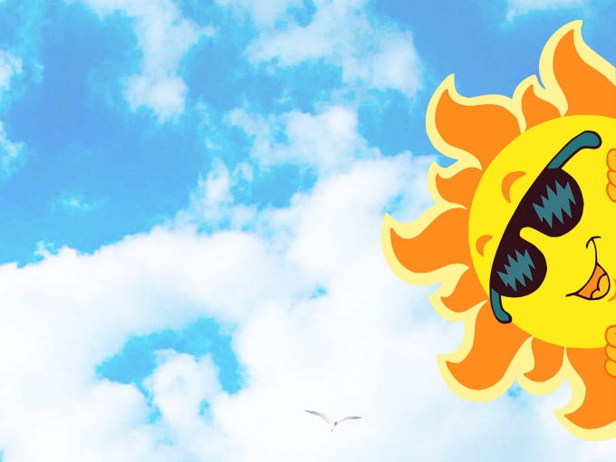 Sun and moon PPT Backgrounds