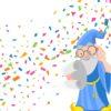Wizard Confetti Backgrounds