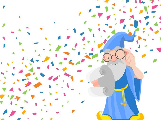 Wizard Confetti PPT Backgrounds