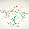 Green Fireworks PPT Backgrounds