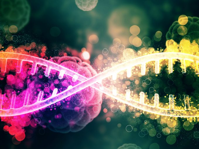 3D DNA Strands PPT Backgrounds