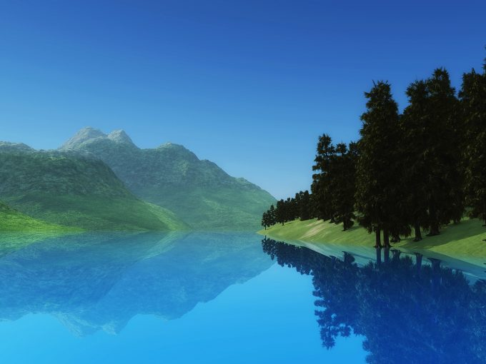 3D Lake Side PPT Backgrounds
