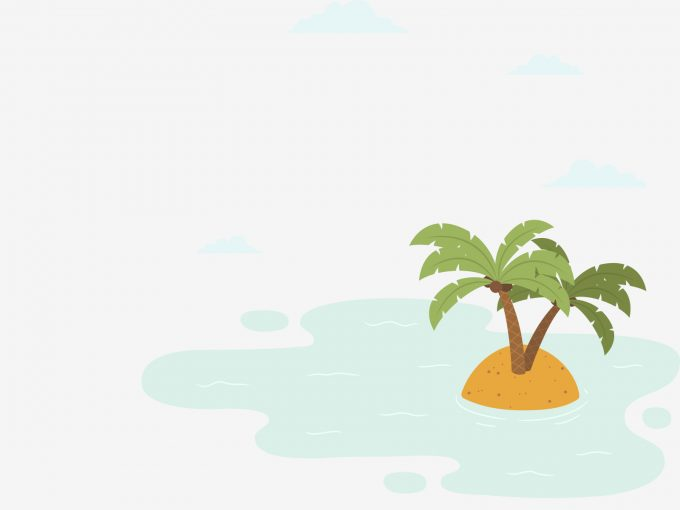Desert island PPT Backgrounds