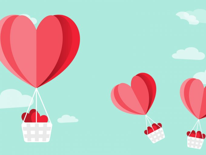 Love Air Balloons PPT Backgrounds