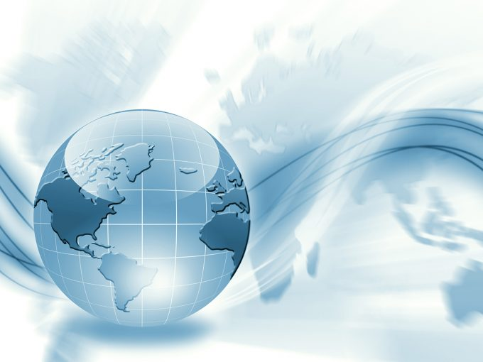 3D Global World PPT Backgrounds