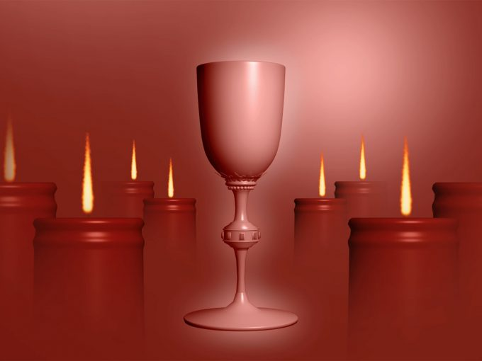 Christian Candle PPT Backgrounds