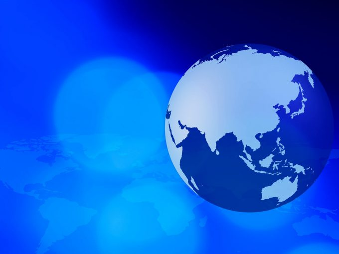 Global business blue PPT Backgrounds