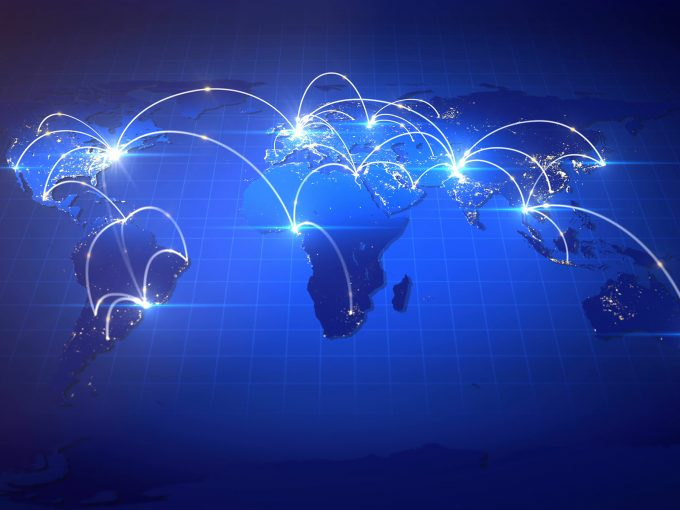 Growing Global Business Network PPT Backgrounds