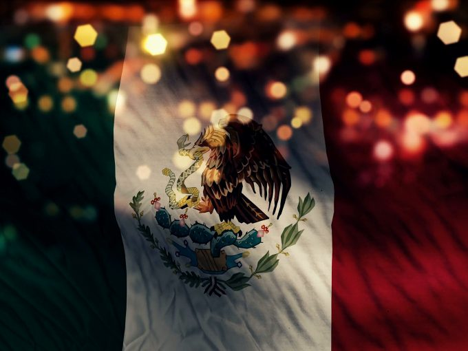 Mexico Flag Light PPT Backgrounds