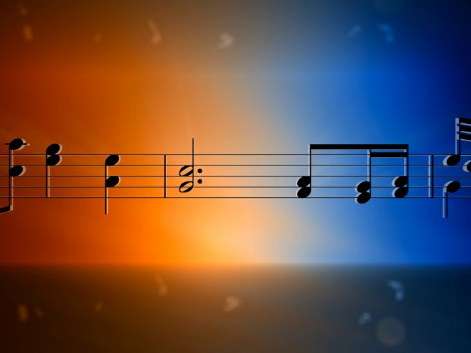 Music staff and notes PPT Backgrounds