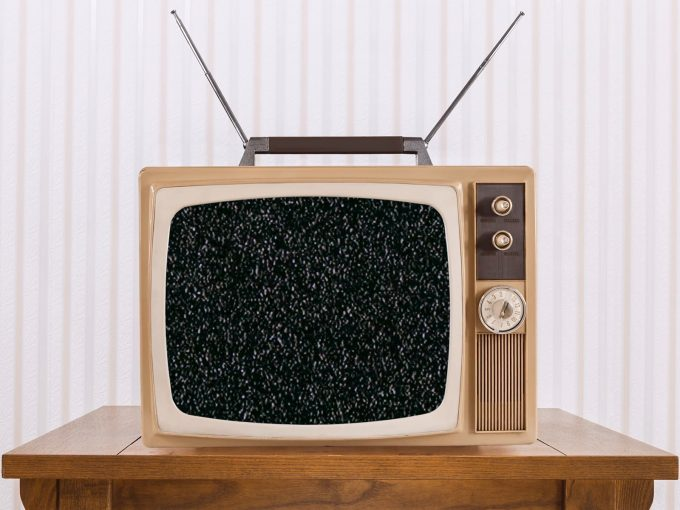Old Television with Zoom PPT Backgrounds