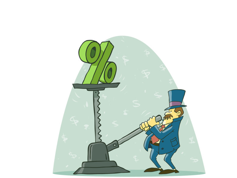 Raising Dolar Background