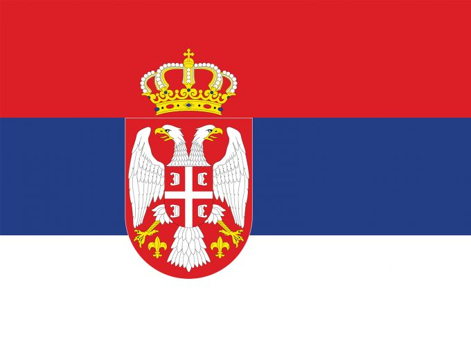 Serbia Flag PPT Backgrounds