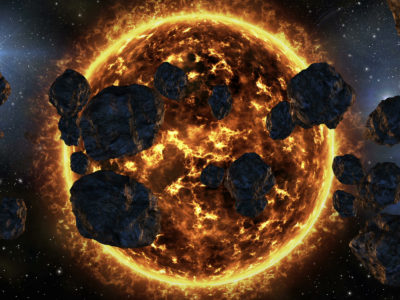 Space galaxy asteroids