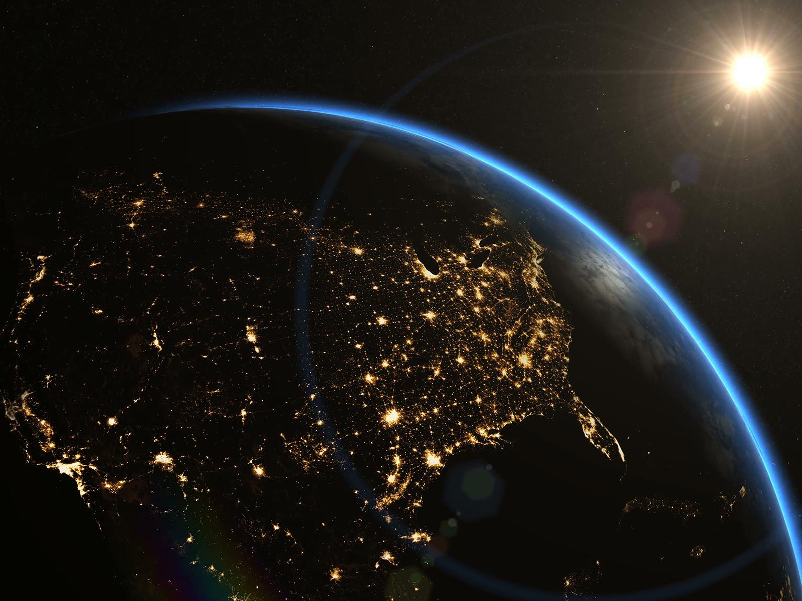 Sunrise over USA