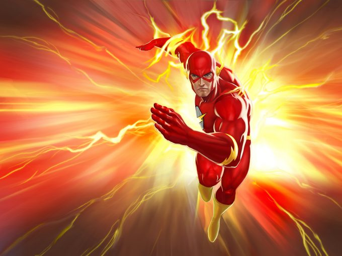 The Flash Man PPT Backgrounds