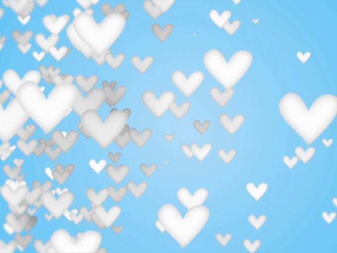 White Love Shape PPT Backgrounds