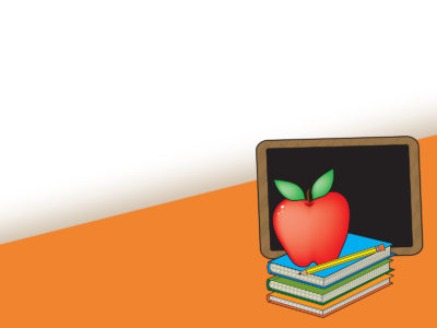 Apple and Book School Background