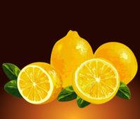 3D Fresh Lemons background