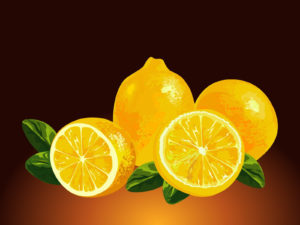 3D Fresh Lemons background