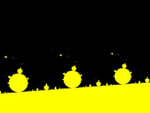 Abstract Yellow Fractals Backgrounds