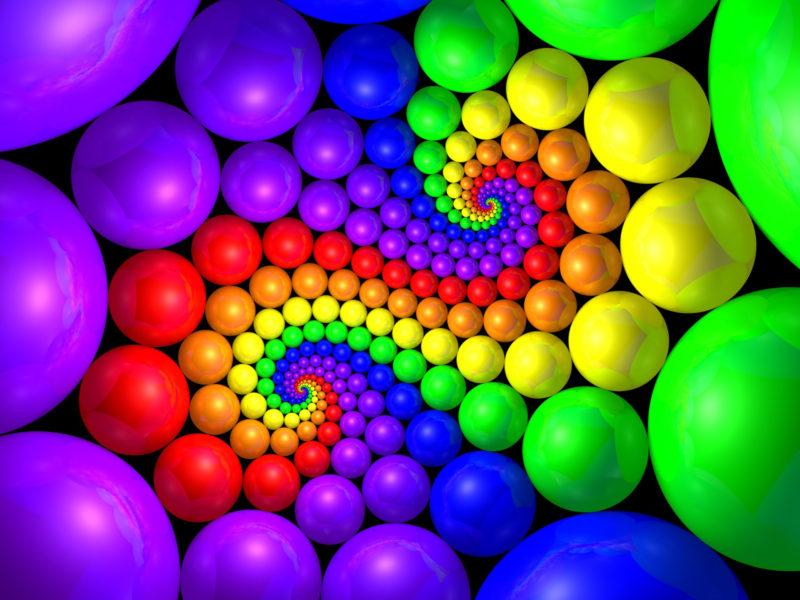 Kitsch Spiral Ball Backgrounds