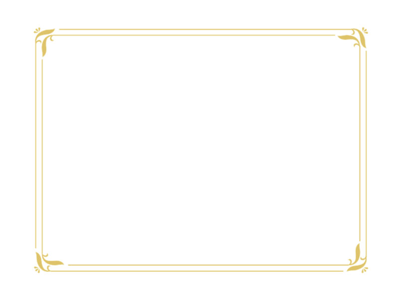 Simple Gold Certificate Slides