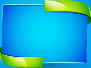 Blue 3D Border PPT Backgrounds