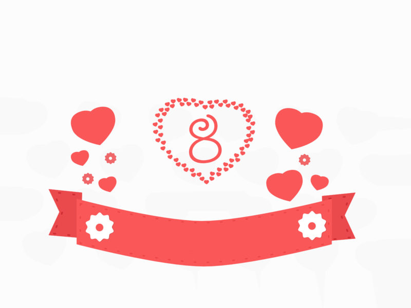 Endless love ppt backgrounds