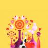 Flower cat ppt backgrounds