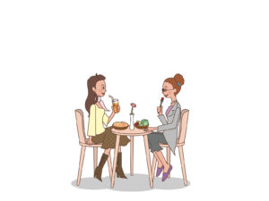 Lady lunch time backgrounds