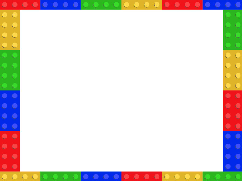 Lego Frame PPT Backgrounds