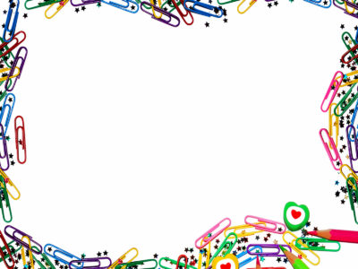 Paperclip Border ppt backgrounds
