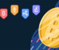 Cryptocurrency bitcoin backgrounds