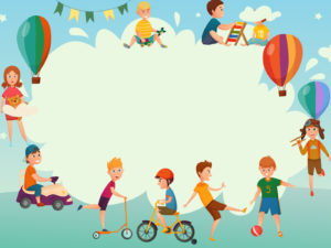 Playing Kids Border Backgrounds