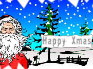 Happy Xmas Postcard Backgrounds