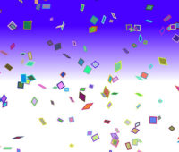 Colorful Confetti Party Backgrounds