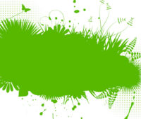 Green Foliage PPT Backgrounds